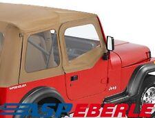 Steckfenster set für Halbtüren Spice Bestop Jeep Wrangler YJ 88-95