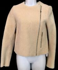 Celine Jacket Ivory Shearling And Leather Short Zip up   Nwt $5200 Size 36