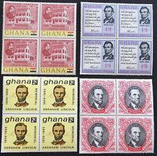 Ghana 1965 Abraham Lincoln Block Of Four M.N.H.