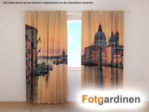 "Fotogardinen ""Venedig"" Vorhang mit Motiv, 3D Fotodruck, Maßanfertigung"