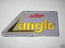 AMF GREY ANGLE VINTAGE  Bowling Shirt Patch PBA DW