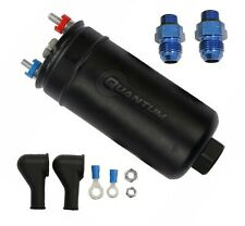 QUANTUM 380LPH External Fuel Pump w/ -10AN Inlet & -8AN Outlet Fittings 50-1005