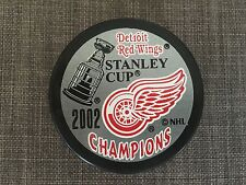 2002 Detroit Red Wings Stanley Cup Champions NHL Puck