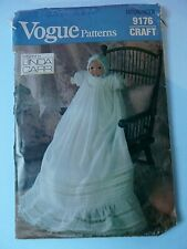 "Linda Carr Vogue craft 9176 16"" doll Christening gown sewing  pattern UNCUT"