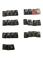 Lot of 27 mixed brand 8gb micro sd cards.