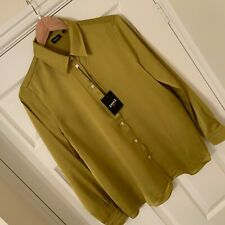 EMME MARELLA MUSTARD COLOUR LADIES SHIRT BLOUSE SIZE 12 - NEW WITH TAGS