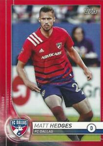 2020 Topps Major League Soccer Base Common Red Parallel Numbered to /10 96 - 114