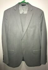 Marc Anthony Flat Front 2 Button Gray Suit Size 40R  32x30