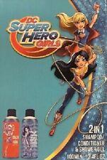 DC SUPER HERO GIRLS 2 IN 1 SHAMPOO CONDITIONER SHOWER GEL SET