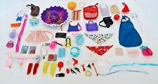 Vintage Barbie Accessories Hats Purses Scarves Belts Electronics 62 Piece Lot