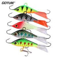 Goture 5pcs Winter Ice Fishing Lure 53mm 7.37g Lead Metal JIg Fishing Walleye