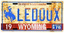 Chris Ledoux Wyoming Cowboy 1976 Vintage Replica License plate
