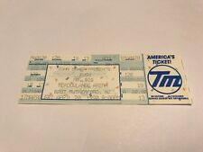 Rare Rush Unused Concert Ticket 4/20/1991 New Jersey Meadowlands