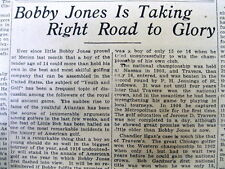 1916 newspaper 16 YearOld BOBBY JONES in his 1st US AMATEUR OPEN GOLF TOURNAMENT