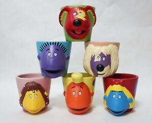 Tweenies BBC 1998 Six Pottery Planters / Candle Holders Vintage Collectables