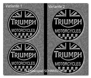 2 Aufkleber Triumph Retro Cafe Racer Motorrad Bike Bobber Farbwahl TR025