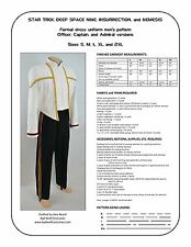 Star Trek Sewing Pattern - Starfleet formal uniform - DS9, Nemesis (men's)