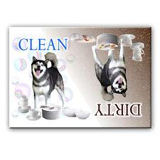 Alaskan Malamute Clean/Dirty Dishwasher Magnet