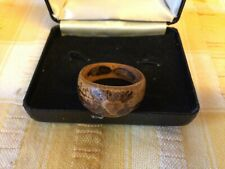 More details for beautiful vintage hand carved wooden knot ring bought in borneo many years ago