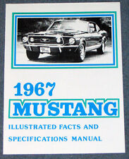 Ford Mustang Illustrated Facts Book 1967 67 Repro Vintage dealer literature