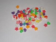Bird Toy, Mixed Heart and Star Pony Beads - Happy Beaks
