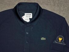 Men's NWT LACOSTE SPORT ULTRA Dry Golf Polo XL NAVY BLUE w/Lacoste & Golf Logo