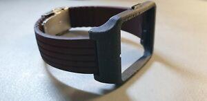 Sony SmartWatch 3 SWR50 Black GALAXAY Adaptor Brown Silicone Strap Clasp