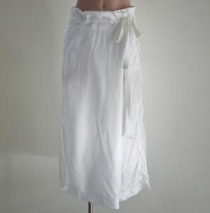 Lee Mathews Long White Wrap Skirt Size 1