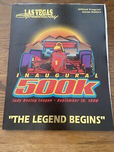 1996 Inaugural 500k At Las Vegas Motor Speedway Indycar Racing Program