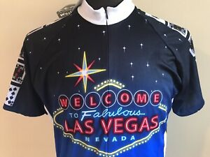 World Jerseys Cycling Shirt Jersey WELCOME LAS VEGAS 777 Biking Size L