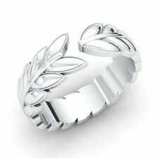 Certified Leaf Wrap Design Womens Wedding Anniversary Band Ring 14k Solid Gold