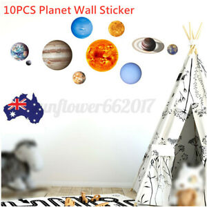 10PCS Solar System Planet Night Light Luminous DIY Wall Sticker Glow In The Dark