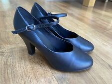 Ladies Black Practice Ballroom Shoes By Topline Denise Low All Sizes