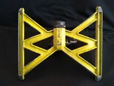 New listing Vintage Cast Metal and Brass yellow Nelson lawn sprinkler made in Usa