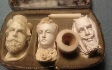 Antique Charoot Pipe Set Faust, Queen, Mephistopheles, the Devil RARE!