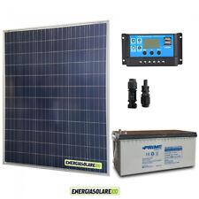 Kit placa solar 200W 12V Batería 200Ah agm Regulador de carga PWM 20A NV20
