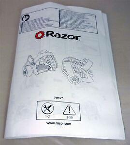 Razor Jetts Heel Wheels Scooter Intruction User Guide Manual
