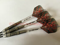 24g Nimrod Flame Tungsten Darts Set, Target Flame Flights, Vision Pro Grip Stems