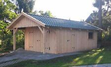 Holzgarage 4m x 6m mit 1,20 Vordach Satteldach Geräteschuppen Gartenhaus