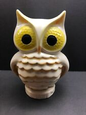 Vintage Ceramic Owl Coin Piggy Bank Robroy Rob Roy Golf Ball Eyes Plaster Totoro