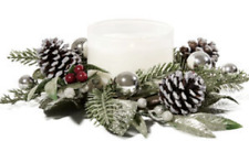 Bath & Body Works 3-wick candle ring NORDIC PINECONE Christmas wreath