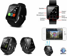 Smart Watch U8 NERO.Compatibile iPhone 5,5s,5c,6,6 plus.Orologio touchscreen, S