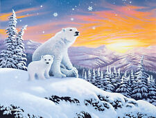 Jigsaw Puzzle Animal Wild Polar Arctic Snow Bears 300 pieces NEW made in USA
