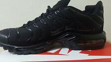 NIKE AIR MAX PLUS Tn triple black size UK 8 adults BNIB.