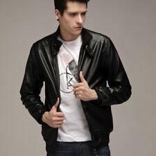 Classic Men's Slim Fit PU Leather Jacket Biker Motorcycle Coat Zipper Outwear