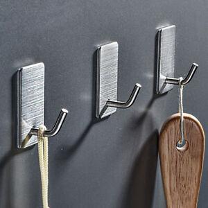 8 PCS Stainless Steel Wall Hook Hanger Storage Hanging Holder Rack Self Adhesive
