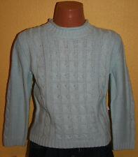 Liegelind Kinder Mädchen Pulli Strick Pullover mit Baumwolle hell blau Gr.98 neu