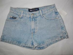 New Junior's Blue Asphalt Sparkling Denim Shorts (Color - Blue) Size 3 NWT
