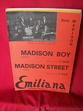ROSSI e i suoi EVASI madison Boy + Madison street 1963 Spartiti BEAT