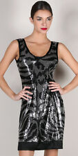 HALE BOB Shimmer SEQUIN VIVA VEGAS ANIMAL BACHELORETTE DRESS NWT M 8-10 $212
